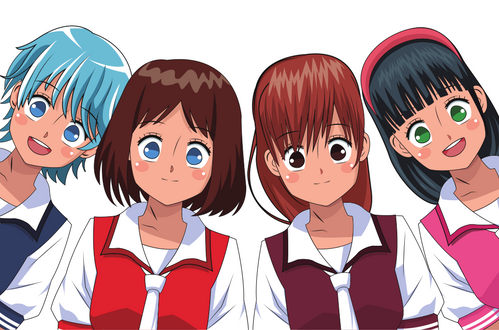 Group of anime characters