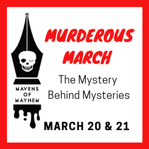 Murderous March Confab is at the library on March 21st , 10:30-4:00